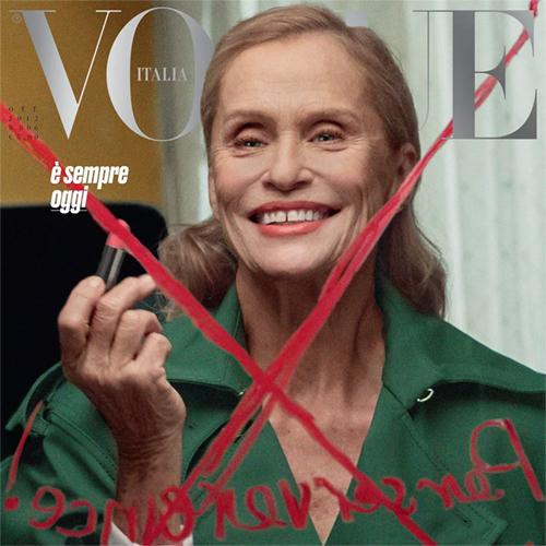 Lauren Hutton é capa da Vogue Itália de outubro 2017